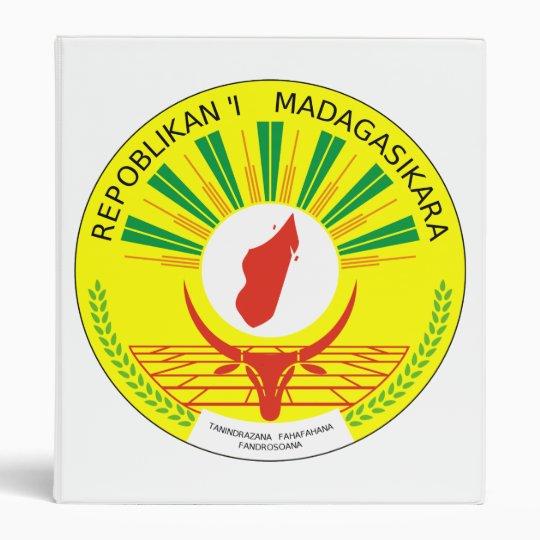 Madagascar Coat Of Arms 3 Ring Binder