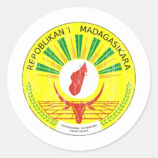 Madagascar Coat Of Arms Classic Round Sticker