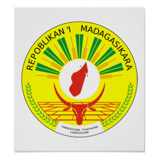 Madagascar Coat Of Arms Poster
