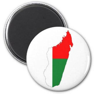 madagascar country flag map shape symbol 2 inch round magnet