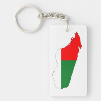 madagascar country flag map shape symbol keychain