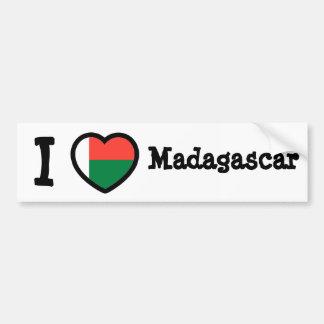 Madagascar Flag Bumper Sticker