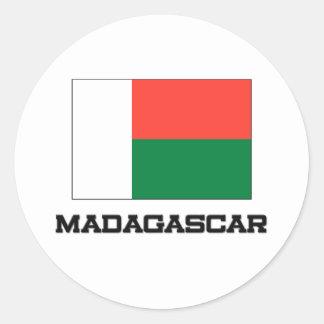 Madagascar Flag Classic Round Sticker