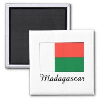 Madagascar Flag Design 2 Inch Square Magnet