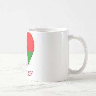 Madagascar Flag Heart Coffee Mug