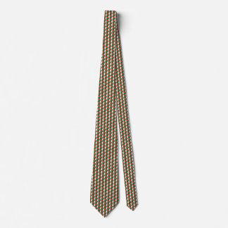 Madagascar Flag Honeycomb Tie