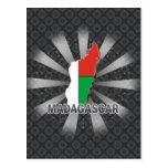 Madagascar Flag Map 2.0 Post Cards