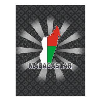 Madagascar Flag Map 2.0 Postcard