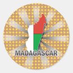 Madagascar Flag Map 2.0 Stickers