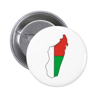 Madagascar Flag Map full size Pinback Button