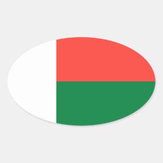 Madagascar Flag Oval Sticker
