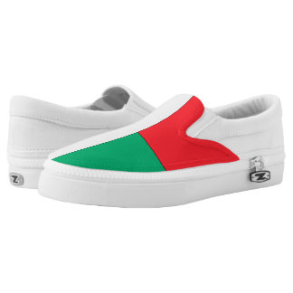 Madagascar Flag -.png Slip-On Sneakers