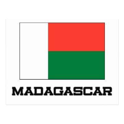 Madagascar Flag Postcard Zazzlecom - Madagascar flag