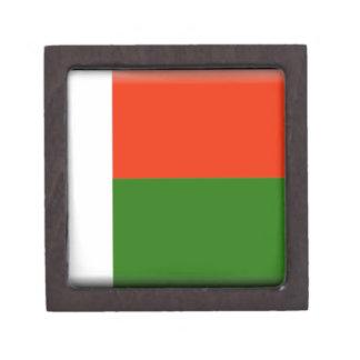 Madagascar Flag Premium Jewelry Boxes