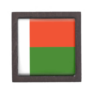 Madagascar Flag Premium Trinket Box
