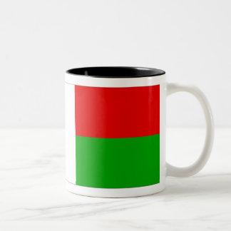 Madagascar Flag Two-Tone Coffee Mug