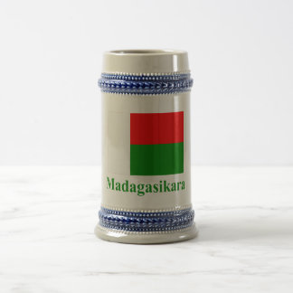 Madagascar Flag with Name in Malagasy Beer Stein