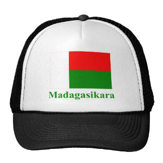 Madagascar Flag with Name in Malagasy Trucker Hat