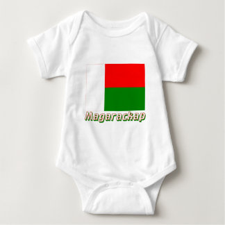 Madagascar Flag with name in Russian Baby Bodysuit