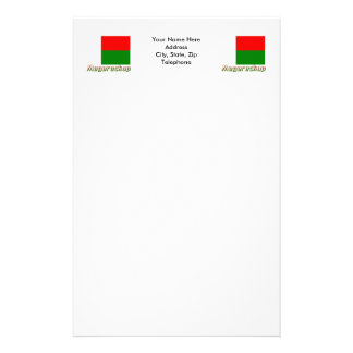 Madagascar Flag with name in Russian Stationery