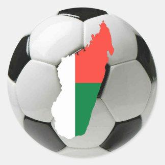Madagascar football soccer classic round sticker