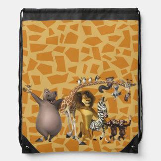Madagascar Friends Drawstring Bag