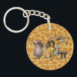 "Madagascar Friends Keychain<br><div class=""desc"">It&#39;s all the Madagascar characters in one graphic!</div>"