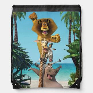 Madagascar Friends Support Drawstring Backpack