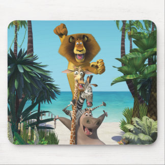 Madagascar Friends Support Mouse Pad
