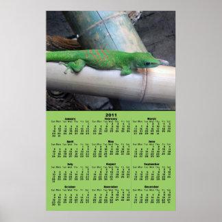 Madagascar Giant Day Gecko 2011 Calendar Poster