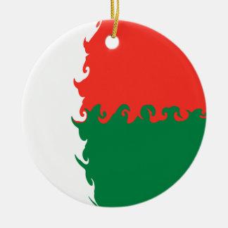 Madagascar Gnarly Flag Ceramic Ornament