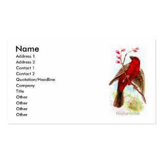 Madagascar Grosbeak Business Card