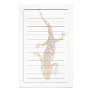 Madagascar ground gecko (Paroedura pictus) on Stationery