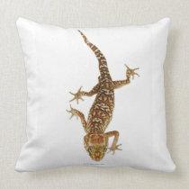 Madagascar ground gecko (Paroedura pictus) on Throw Pillow