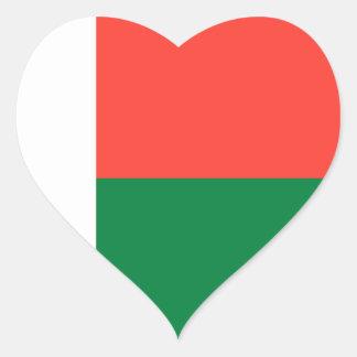 madagascar heart sticker