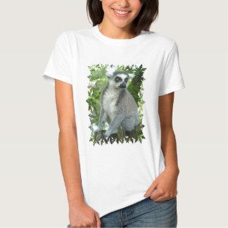 Madagascar Lemur Ladies Fitted T-Shirt