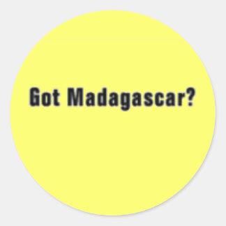 """'Madagascar """" (Madagascar) T-Shirt and etc Classic Round Sticker"""