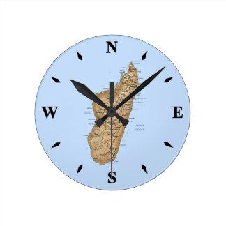Madagascar Map Clock