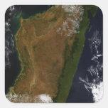 Madagascar Pegatina Cuadrada