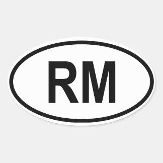 "Madagascar ""RM"" Oval Sticker"