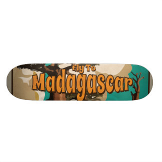 Madagascar Vintage Travel Poster Skateboard