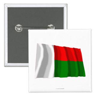 Madagascar Waving Flag Button