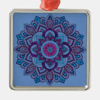 Madala 14 Hand-Colored Metal Ornament