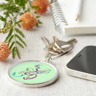 Madam Butterfly, Graphic Illustration Keychain