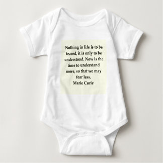 Madam Curie quote Baby Bodysuit