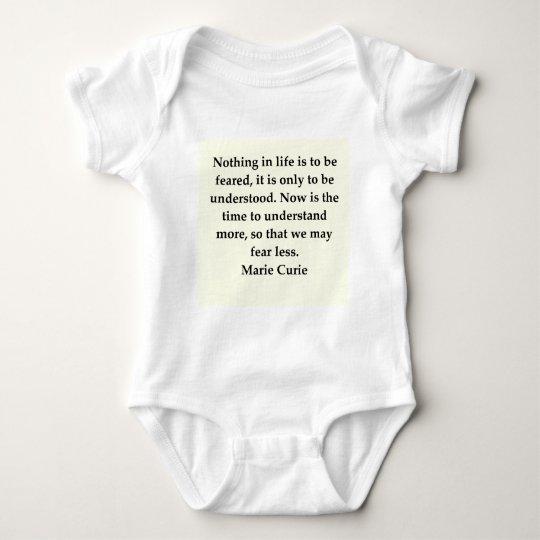 Madam Curie quote Baby Bodysuit