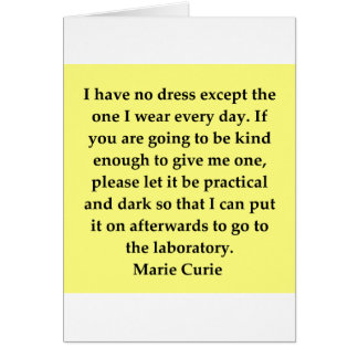 Madam Curie quote Greeting Card
