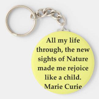 Madam Curie quote Keychain