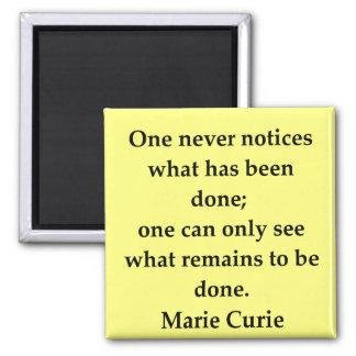 Madam Curie quote Magnet