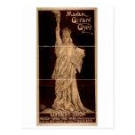 Madam Girard Gyer, 'Bartholdi's Statue' Retro Thea Postcard